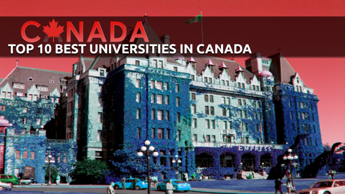 BEST UNIVERSITIES IN CANADA